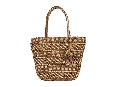 Lucky Brand Ordo Tote (Brown/Natural) Handbags