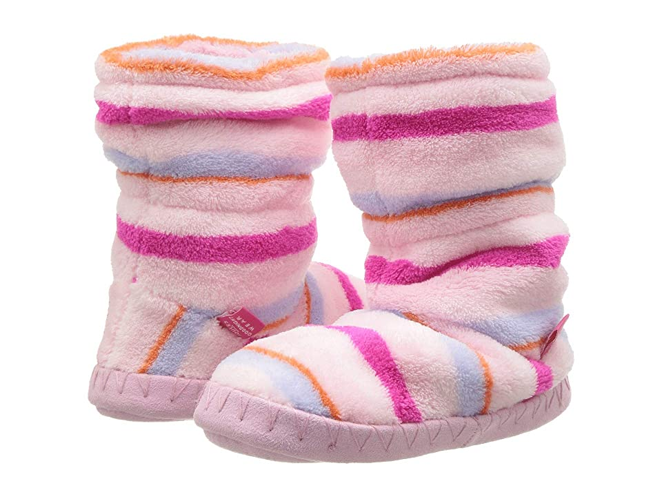 Joules Kids Fleece Lined Slippersock (Toddler/Little Kid) (Pink Multi Stripe) Girls Shoes