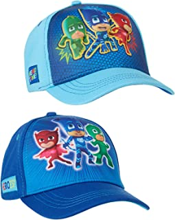 PJ Masks Boys Cotton Baseball Cap with Embroidery (Ages 2-7), Size Age 4-7, Blue/Light Blue 3D POP