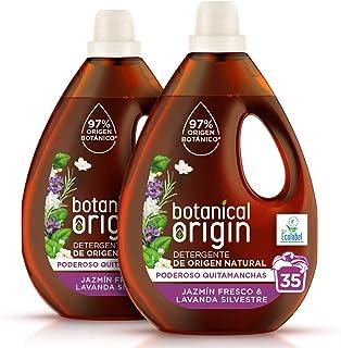 Botanical Origin Detergente para lavadora ecológico apto para pieles sensibles Fragancia Jazmín Fresco y Lavanda Silvestr...