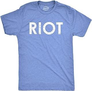 Riot T Shirt Funny Shirts for Men Political Novelty Tees Humor