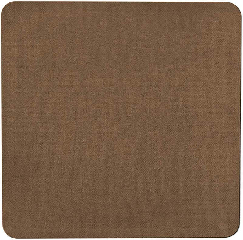 House Home And More Skid Resistant Carpet Indoor Area Rug Floor Mat Toffee Brown 3 Feet X 3 Feet