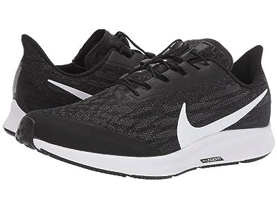 Nike FlyEase Air Zoom Pegasus 36 (Black/White/Thunder Grey) Men