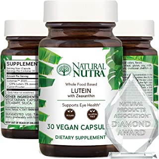 Sponsored Ad - Natural Nutra Lutein and Zeaxanthin Eye and Vision Support Supplement - Macular Health Whole Food Formula -...