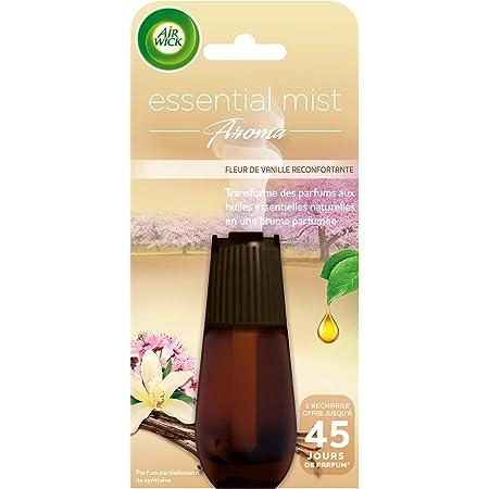 Air Wick Recharge Diffuseur d'Huiles Essentielles Essential Mist Parfum Fleur de Vanille 20 ml