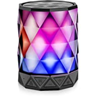 Bluetooth Speakers with Lights, LFS Night Portable Wireless Speaker, Multi-Color Auto-Changing...