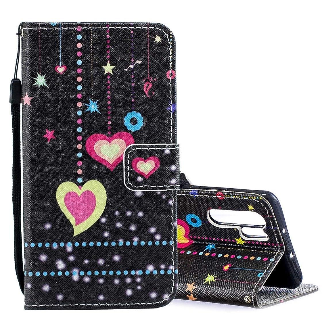 順応性のあるリーガン置換WTYD 電話アクセサリー Huawei P30 Pro用カラーパターン横型フリップレザーケース、ホルダー&カードスロット&財布付き 電話使用