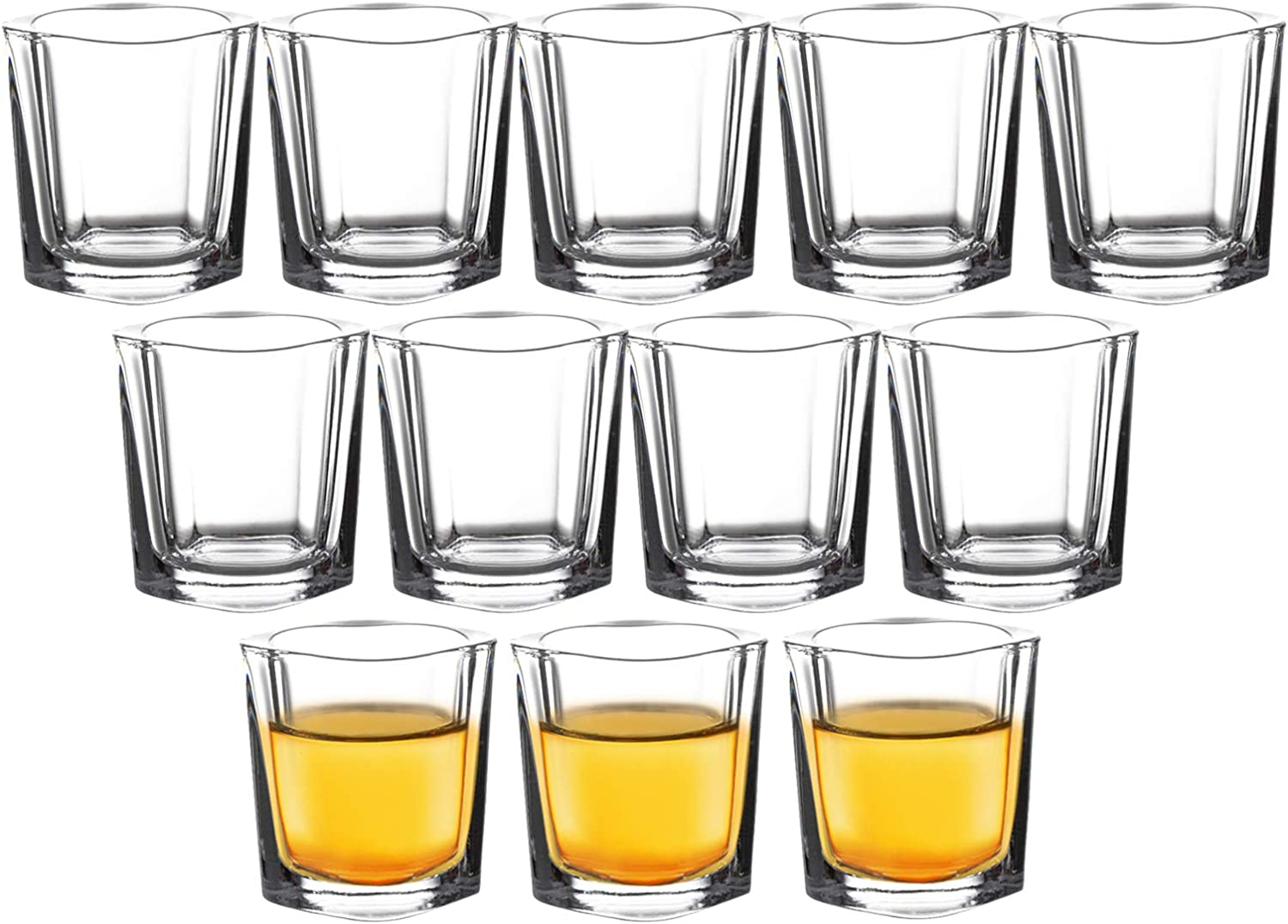 Square Shot Year-end gift Ranking TOP18 Glasses Bulk Set of Glass Clear oz Tequila 12-2