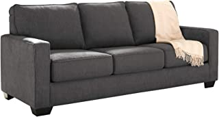 Signature Design by Ashley - Zeb Contemporary Microfiber Sleeper Sofa - Full Size Mattress - Charcoal