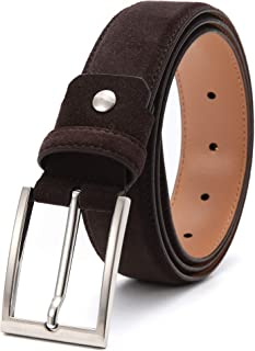 Sponsored Ad - Ground Mind Men's Suede Leather Belt Fashion Casual Belts with Prong Buckle