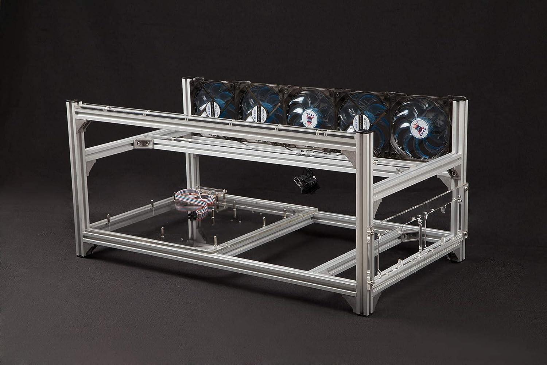 6 GPU Aluminum Stackable Open Air Insu Frame Computer Max 50% OFF Rig Mining free