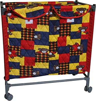 Kuber Industries Cotton Laundry Basket with Wheels