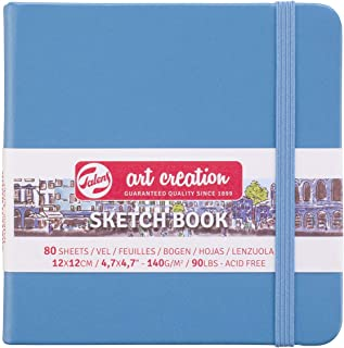 Cuaderno de bocetos Royal Talens Art Creation de tapa dura, 80 hojas, 140 g/m², 12 x 12 cm, color azul