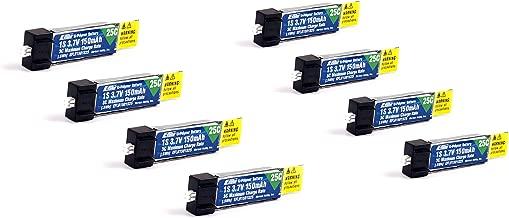 Pack of 8 E-Flite 150mah 1s 3.7v 25c Lipo Battery e flite (8Pcs)