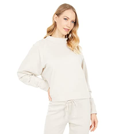 Chaser Cashmere Fleece Long Sleeve Batwing Mock Neck Pullover