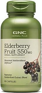 GNC Herbal Plus Elderberry Fruit 550mg, Capsules, 100 ea