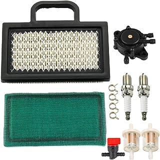 MIU11286 Air Filter with LG808656 Fuel Pump Tune-Up Kit for John Deere LA120 LA130 LA135 LA140 LA145 LA150 X130R X140 X155R X165 D130 D140 L111 L118 L120 Lawn Mower Tractor Snow Blower