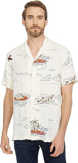 All Over Printed Viscose Hawaii Shirt