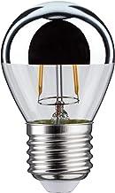 Paulmann 28384 LED kogellamp 2,5W E27 230V kroonspiegel zilver 2700K, 7.8 x 4.5 x 7.8 cm, kopspiegel zilver