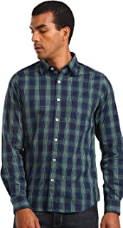 DJ&C By fbb Men's Checkered Slim Fit Casual Shirt