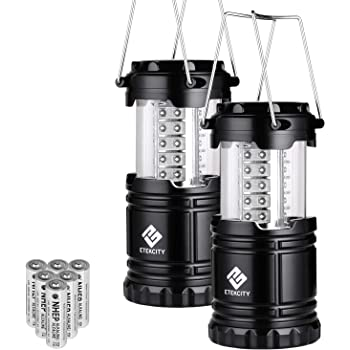 Outage Upgraded Magnetic Base and Dimmer Button Hurricane Black, Collapsible Survival Kit for Emergency Etekcity Portable LED Camping Lantern Flashlight with AA Batteries