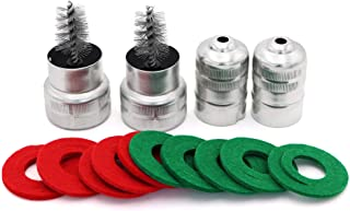 2pcs Battery Terminal Cleaning Brush and 10pcs Anti Corrosion Washers Fiber Protector(5 Red and 5 Green)