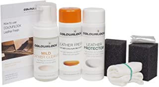 Colourlock Leather Repair Kit with Leather Dye and Mild Cleaner for Repairing Scuffs, Scratches and Faded Leather Compatible with Rolls Royce Cornsilk