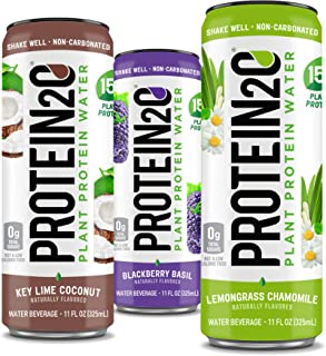 Protein2o Plant-Based Protein Drink, 15g Plant-Based Protein, Variety Pack, 11 Oz (12 Pack)