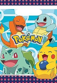 Amscan 9904824 Pokémon-feesttasjes, 8 stuks, 16 x 23 cm, cadeautje, kinderverjaardag