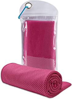 CUZMAK Cooling Towel Ice Cold Scarf Chilling Neck Wrap Ultimate Microfiber Bandana Evaporative Chilly Extra Soft washcloth...