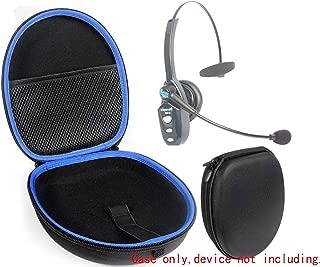 Microphone Headset Protective Case for VXI Blue Parrott B450XT, S450-XT, B350-XT, B250-XT; Plantronics Voyagerr 104; Mpow Pro, V4.1 Trucker Headset; Jabra Evolve 65 UC, mesh Pocket, Strong Light case