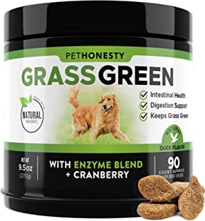 Sponsored Ad - PetHonesty GrassGreen Grass Burn Spot Chews for Dogs - Dog Pee Lawn Spot Saver Treatment Caused by Dog Urin...