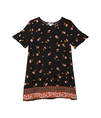 Billabong Kids Over Again Dress (Little Kids/Big Kids) (Black) Girl