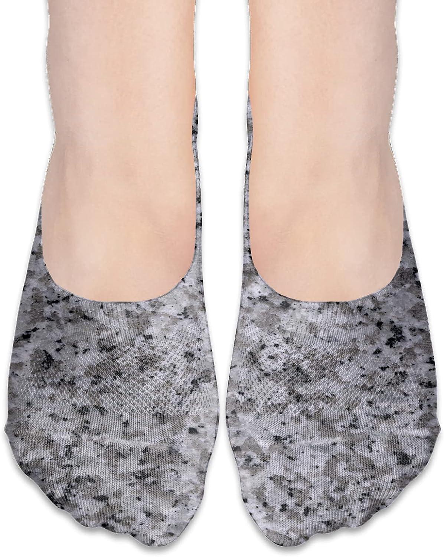 No Show Socks Women Men For Black Granite Marble Camo Flats Cotton Ultra Low Cut Liner Socks Non Slip