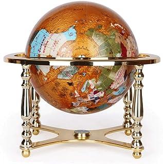 22cm World Globe Bar Map Educational Geographic Modern Desktop Decoration Globe with Alloy 4-Leg Support & Compass World G...
