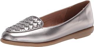 حذاء Brielle Loafer نسائي مسطح من Aerosoles بلون فضي، عرض 7