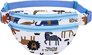 Kayhoma Cute Zoo Kids Fanny Pack For Boys, Blue