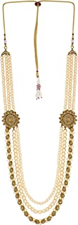 Sasha Bollywood Indian Long Pearl Jewelry Necklace Pearl Bead Fashion Necklace Dulha Kantha Men Groom For Wedding Wear( Du...