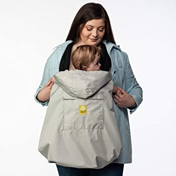 LÍLLÉbaby Rain Cover Baby Carrier Attachment for Water and Wind-Resistant Babywearing, Grey