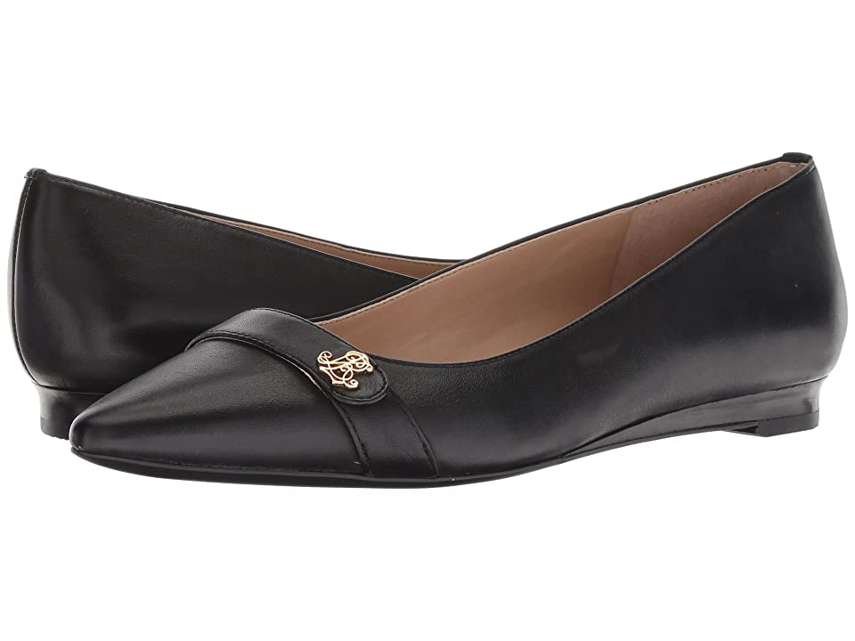 LAUREN Ralph Lauren Aminah (Black Super Soft Leather) Women