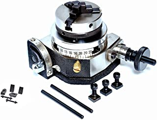 "ROTARY TABLE 3"" TILTING 50MM CHUCK & BACKPLATE + CLAMPING KIT"