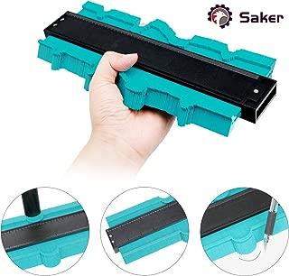 Saker Contour Duplication Gauge- Omnigauge Shape Copy Duplicator -Plastic Ruled Gauge- Precisely Copy Irregular shape-Standard Wood Marking Tool Tiling Laminate Tiles
