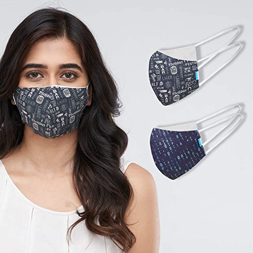 Welspun Health Anti Bacterial Reusable Cotton Mask 2Pc With Free Mask fit Adjuster