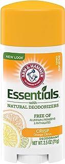 Arm & Hammer Essentials Deodorant, Crisp Orange Citrus, 2.5 Oz, 6Count