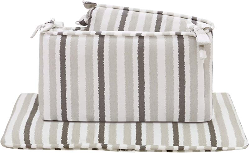 Sydney Crib Bumper Grey Stripe