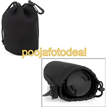SHOPEE BRANDED 1pcs Size M Neoprene Soft Camera Lens Pouch bag Case waterproof MEDIUM