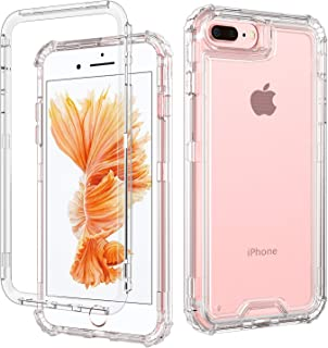 DOMAVER iPhone 8 Plus Case, iPhone 7 Plus Case, iPhone 6S Plus Case, iPhone 6 Plus Case, Heavy Duty Rugged Full Body Cover Shockproof Protective Phone Case for iPhone 6s/6/7/8 Plus, Crystal Clear