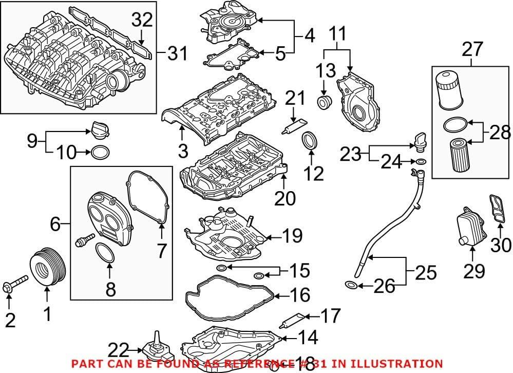 Genuine OEM Engine Intake Indefinitely Audi for Manifold 06L133201FH Excellent