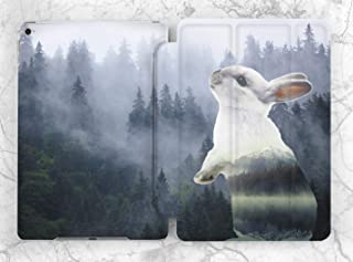Cute Forest Bunny Case For Apple iPad Mini 1 2 3 4 5 iPad Air 2 3 iPad Pro 9.7 10.5 11 12.9 inch iPad 9.7 inch 2017 2018 2019