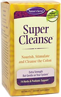 Super Cleanse by Nature's Secret   Herbal and Probiotic Support, 100 Tablets